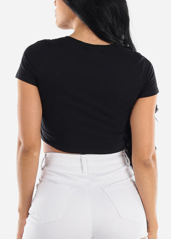 "Black Crop Top ""Love"""