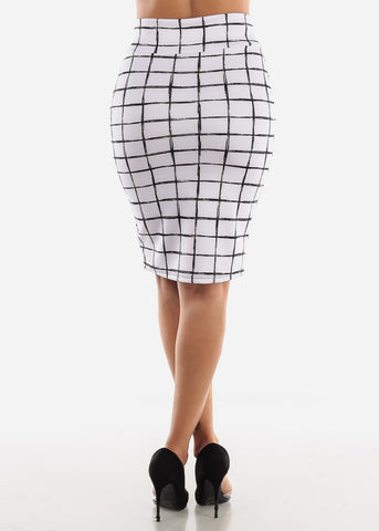 Black & White Printed Skirt