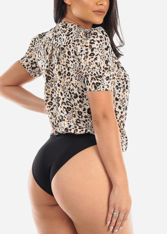 Lightweight Animal Print Bodysuit