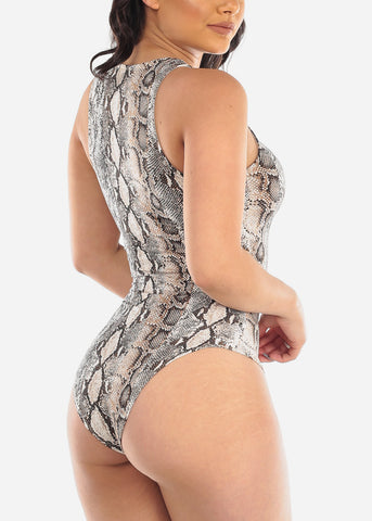 Image of Sexy Snake Print Bodysuit