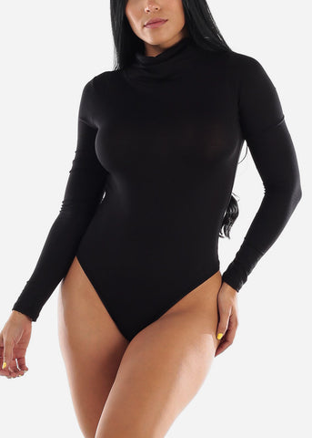 Image of Long Sleeve Black Face Mask Bodysuit