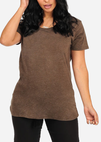 Positive Attitude Graphic Olive Top