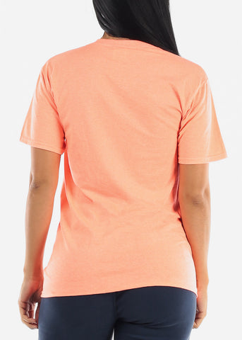 "Orange Graphic T-Shirt ""I'm Very Proud Of Me"""