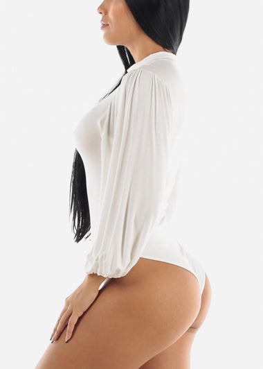 Long Sleeve White Bodysuit