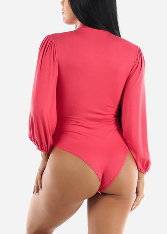 Long Sleeve Dark Coral Bodysuit