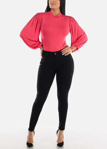 Image of Long Sleeve Dark Coral Bodysuit