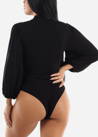 Long Sleeve Black Bodysuit