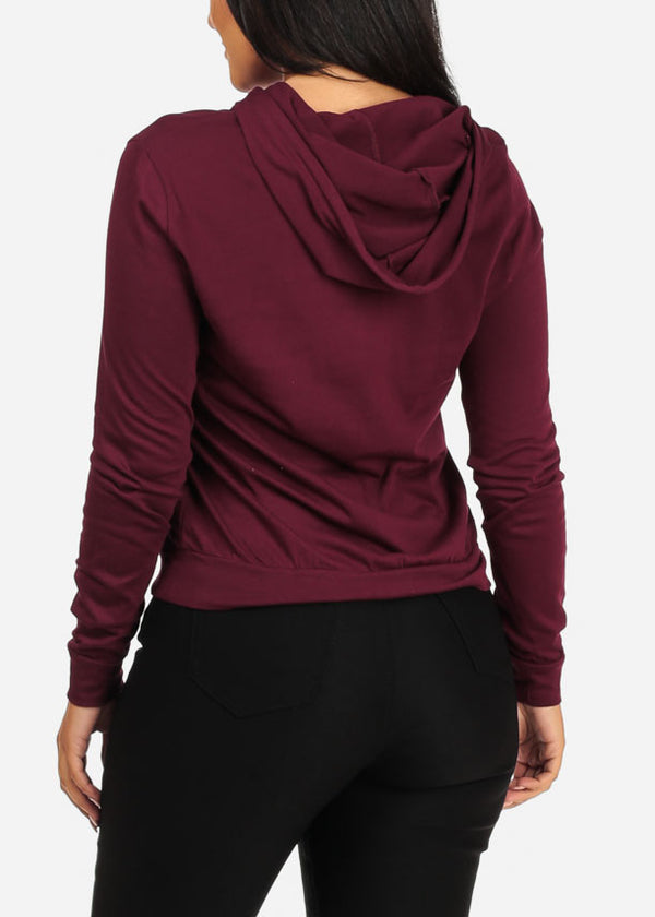 Believe Graphic Burgundy Sweater