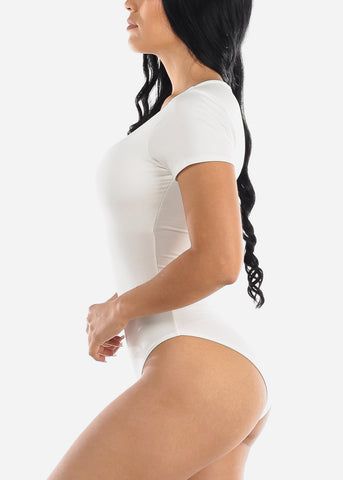 Short Sleeve White Bodysuit