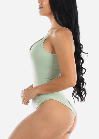 Image of Spaghetti Strap Mint Bodysuit