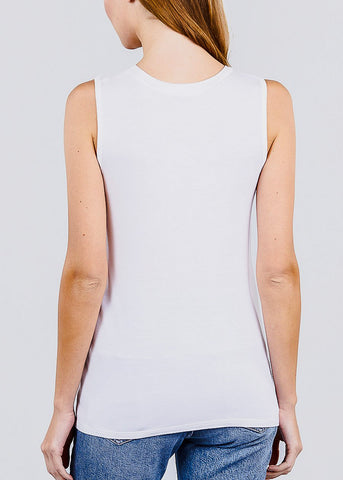 "White Graphic Tank Top ""Just Be Yourself"""