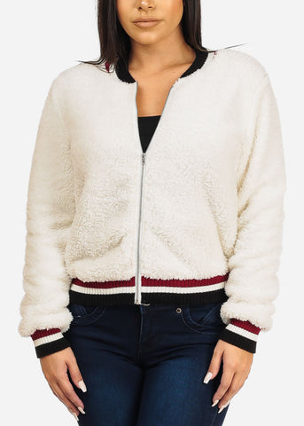 Image of Faux Fur Ivory Jacket