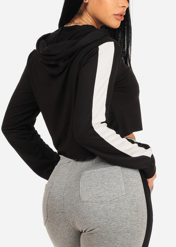 Image of Basic Black Hooded Sweatshirt
