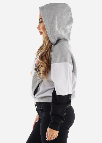 "Image of Grey Graphic Hoodie ""Be Different Babe"""