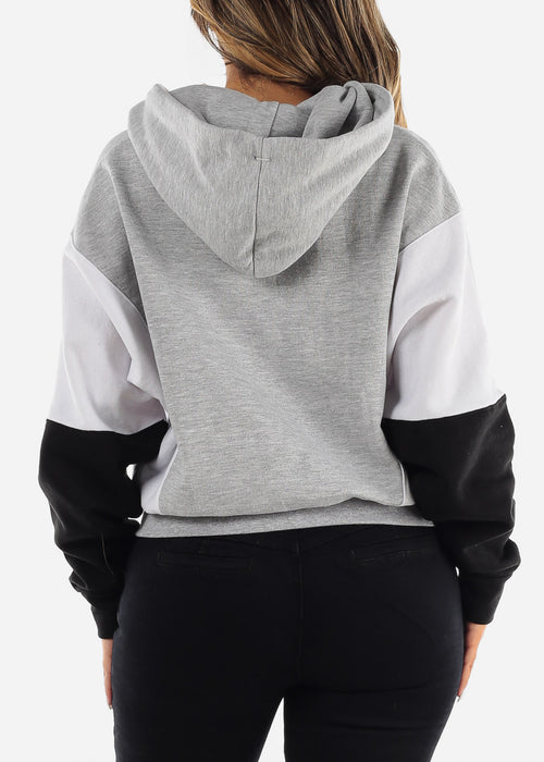 "Grey Graphic Hoodie ""Be Different Babe"""