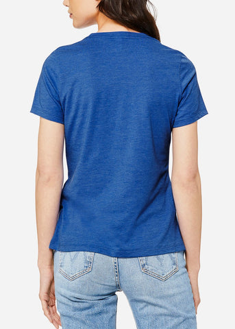 "Image of Blue Graphic T-Shirt ""Now Or Never"""