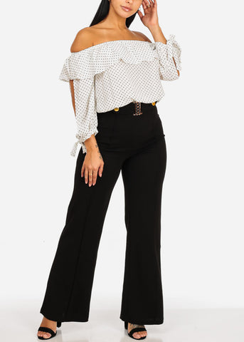 Image of Polka Dot top W Elastic Waist