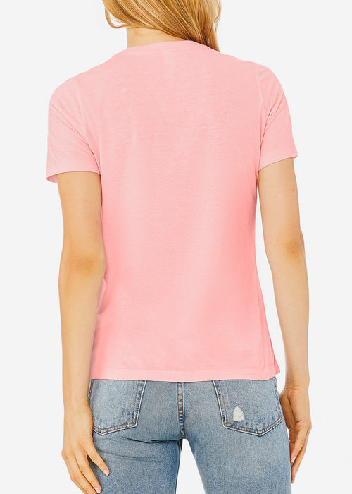 Pink Relaxed Fit Triblend Tee