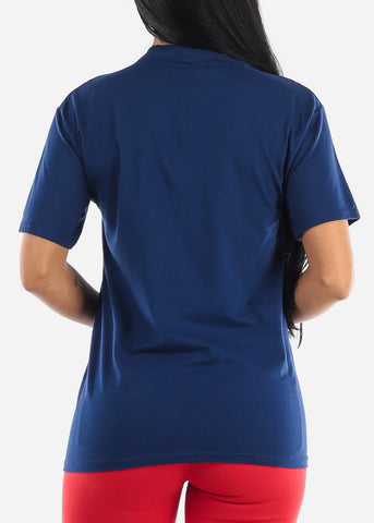 Image of Chic Blue Graphic Tshirt