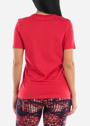 Image of Red Relaxed Jersey Tee