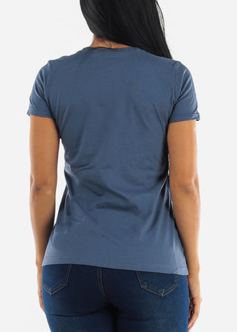 Image of Denim Basic Tee