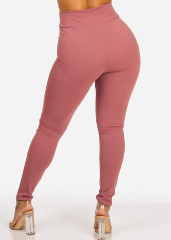 Image of Mauve High Waisted Skinny Leg Pants