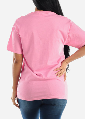 "Oversized Pink Graphic T-shirt ""I'm Very Proud Of Me"""