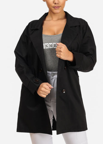 Image of Classic Black Trench Coat