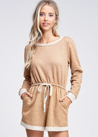 Image of French Terry Mustard Romper