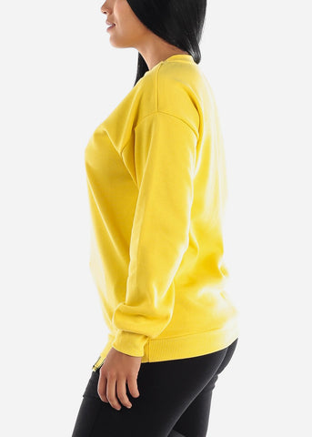 "Image of Yellow Graphic Sweatshirt ""Nothing To Wear"""