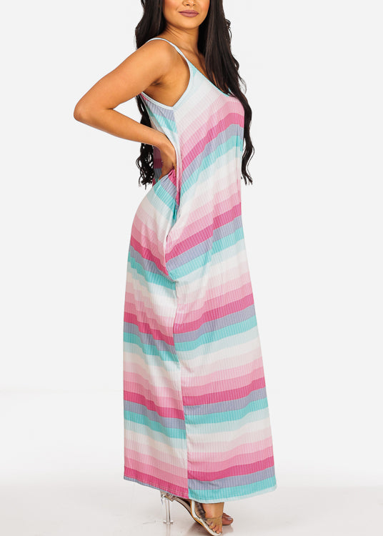 Flowy Stripe Maxi Dress