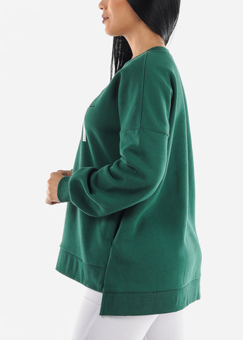 """Never Give Up"" Green Sweater"