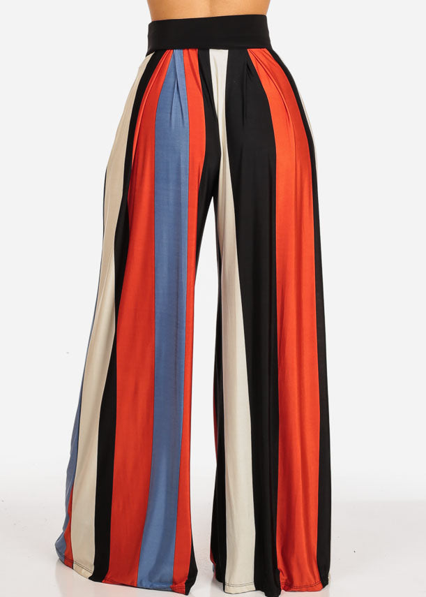 Trendy High Waist Stripe Pants