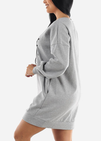 """Savage"" Grey Tunic Dress"