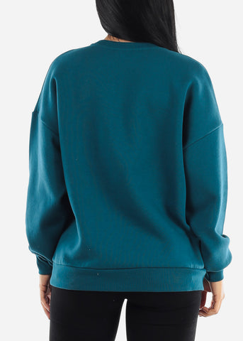 "Image of ""Savage"" Teal Sweater"