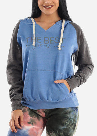 "Image of ""The Best Is Yet To Come"" Blue Hoodie"