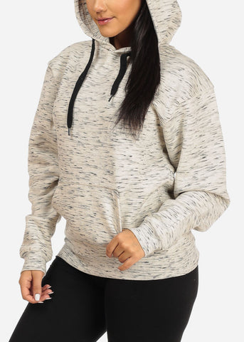 Cozy Oatmeal Heather Sweater W Hoodie