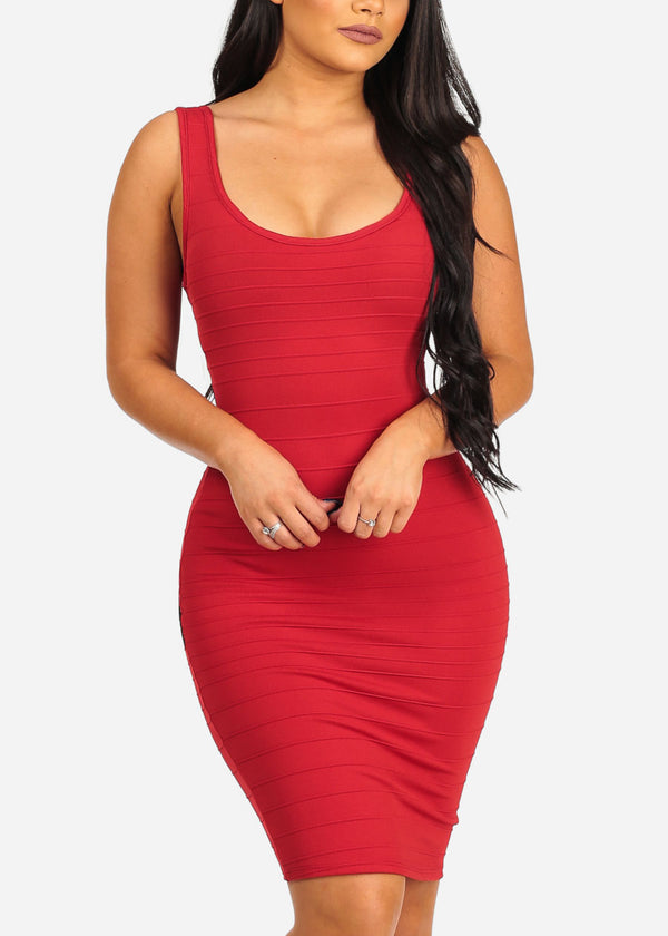 Sexy Bodycon Red Dress