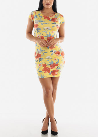 Image of Yellow Floral Dress