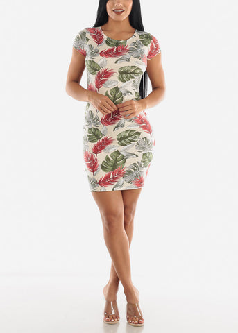 Image of Ivory Print Dress