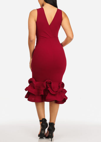 Image of Ruby Ruffle Bodycon Dress