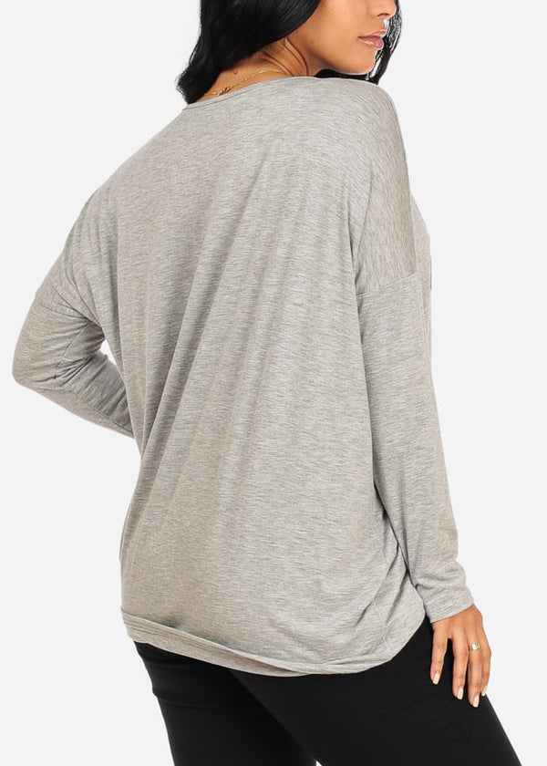 You Couldnt Handle Me Graphic Grey Top