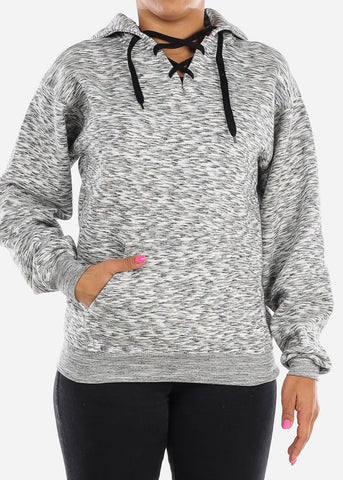 Image of Charcoal Heather Oversized Sweatshirt Hoodie