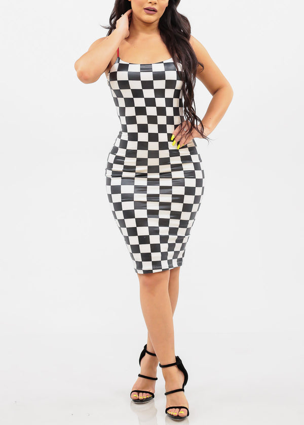 Sexy Checker Print Dress