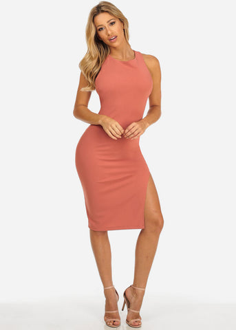 Image of Rose Bodycon Open Back Dress