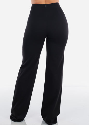 Image of High Rise Elegant Black Pants