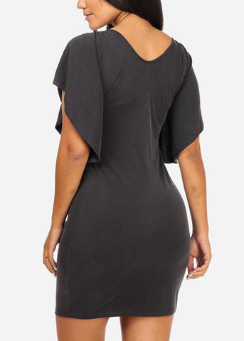 Image of Grey Bodycon Dress