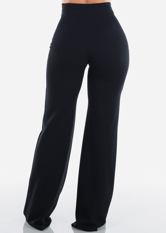 Image of Elegant High Rise Black Pants