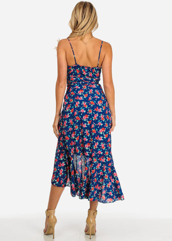 Image of Blue Floral Maxi Dress