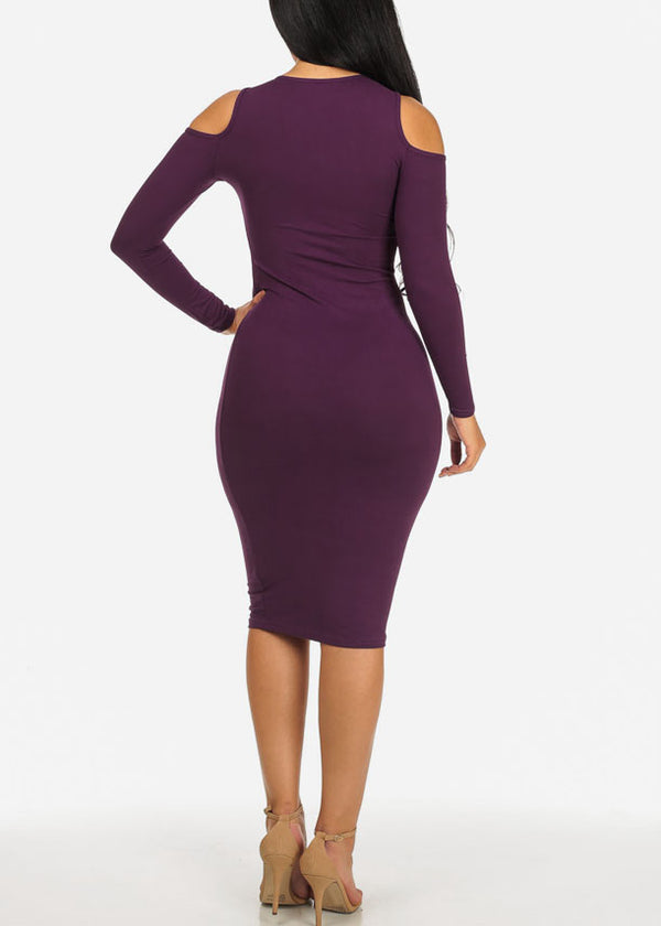 Woman Up Purple Bodycon Dress